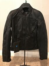 Dainese Womens Mike Leather Motorcycle Jacket - Black 40 Euro NEW WITH TAGS