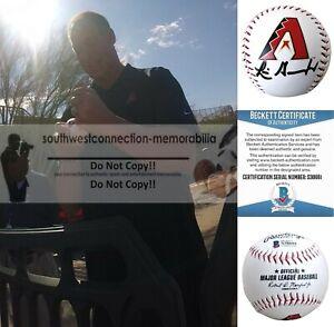Luis Gonzalez Arizona Diamondbacks Signed Logo Baseball Proof Photo  BAS Beckett
