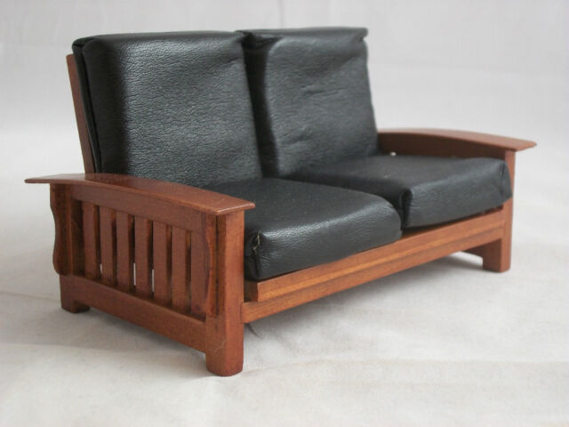 Mission Craftsman Sofa Settee T6236 Miniature Dollhouse Furniture 1 12 Scale