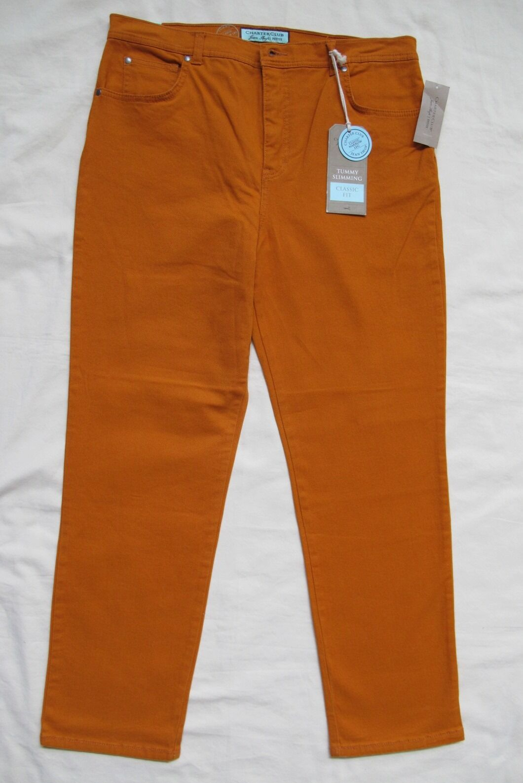 NWT Charter Club_Women's Jean Shop Tummy Slim Classic Fit Narrow Leg (14P)