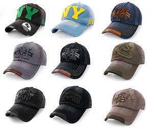Casual-BASEBALL-CAP-HAT-SNAP-BACK-M-Size-Adjustable-Strap-Unisex-Mens-Women-NY