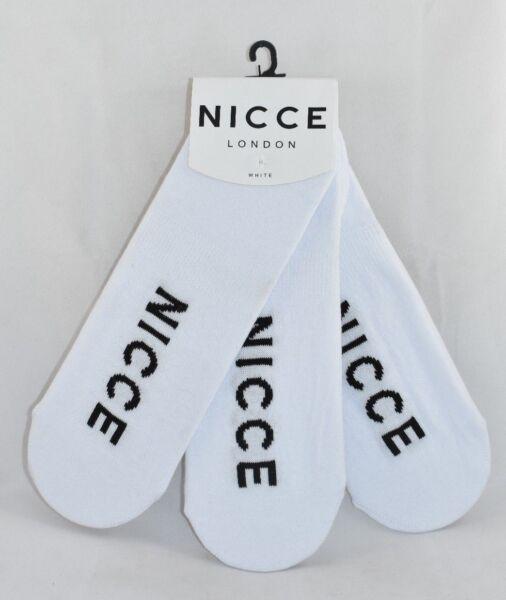 2019 úLtimo DiseñO Mens Nicce Caletta No Show Blanco 3 Pack Entrenador Calcetines Rrp £ 19.99-ver CáLculo Cuidadoso Y Presupuesto Estricto