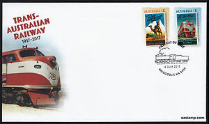 2017-Trans-Australian-Railway-Self-Adhesive-S-A-FDC-First-Day-Cover-Stamps