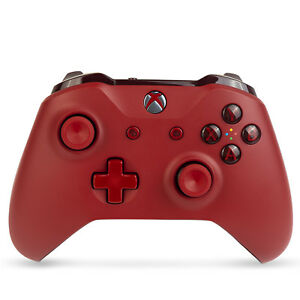 Xbox-One-S-Microsoft-Wireless-Bluetooth-Controller-3-5mm-Headset-Jack-Red