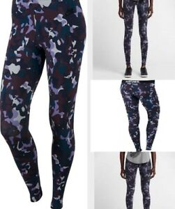 8c414af0b43dec NIKE Leg A See Women's Printed Leggings Pants PURPLE CAMO SIZE SMALL ...