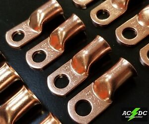 4//0 gauge Ring 3//8 Hole Terminal BATTERY Lug Bare Copper Un-insulated AWG 1