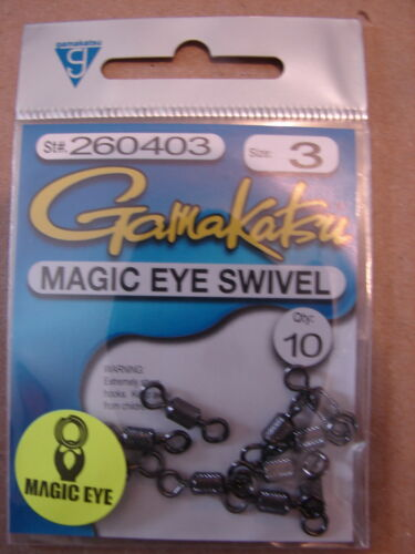 Gamakatsu Magic Eye Swivel Size 3  model 260403 10 per pack