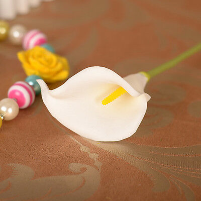 Lily Artificial Calla Bridal Wedding Bouquet head Fake Silk Flower Party Decor