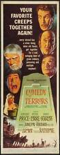 THE COMEDY OF TERRORS Movie POSTER 14x36 Insert Vincent Price Peter Lorre Boris