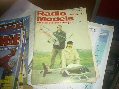 Ambizioso Radio Contrlo Modelli E Copia 1976 Electronics January-mostra Il Titolo Originale