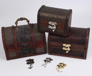 Bijoux Boîte Cadeau Loquet Moraillon Bois Vin Poitrine Attraper Fermoir Crochet + Charnières-afficher Le Titre D'origine Techniques Modernes