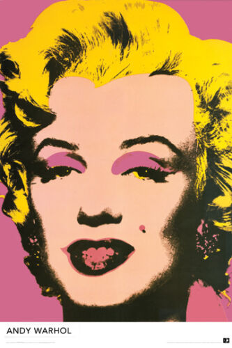 "ANDY WARHOL LARGE 24/"" X 36/"" NEW MARILYN MONROE POSTER"