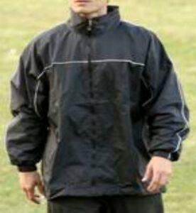 Rain-Jacket-BLACK-34-36-WaterProof-Football-RugbyTraining-Golf-Cycling-Walking