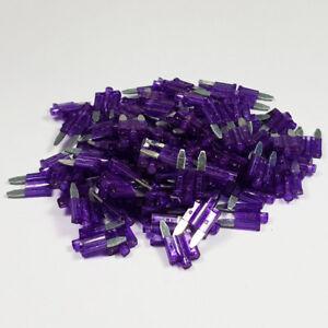 3 Amp Mini resplandor golpe 3 A Hoja Púrpura Fusibles LED Smart Car Van Bicicleta amperios un cajero automático  </span>