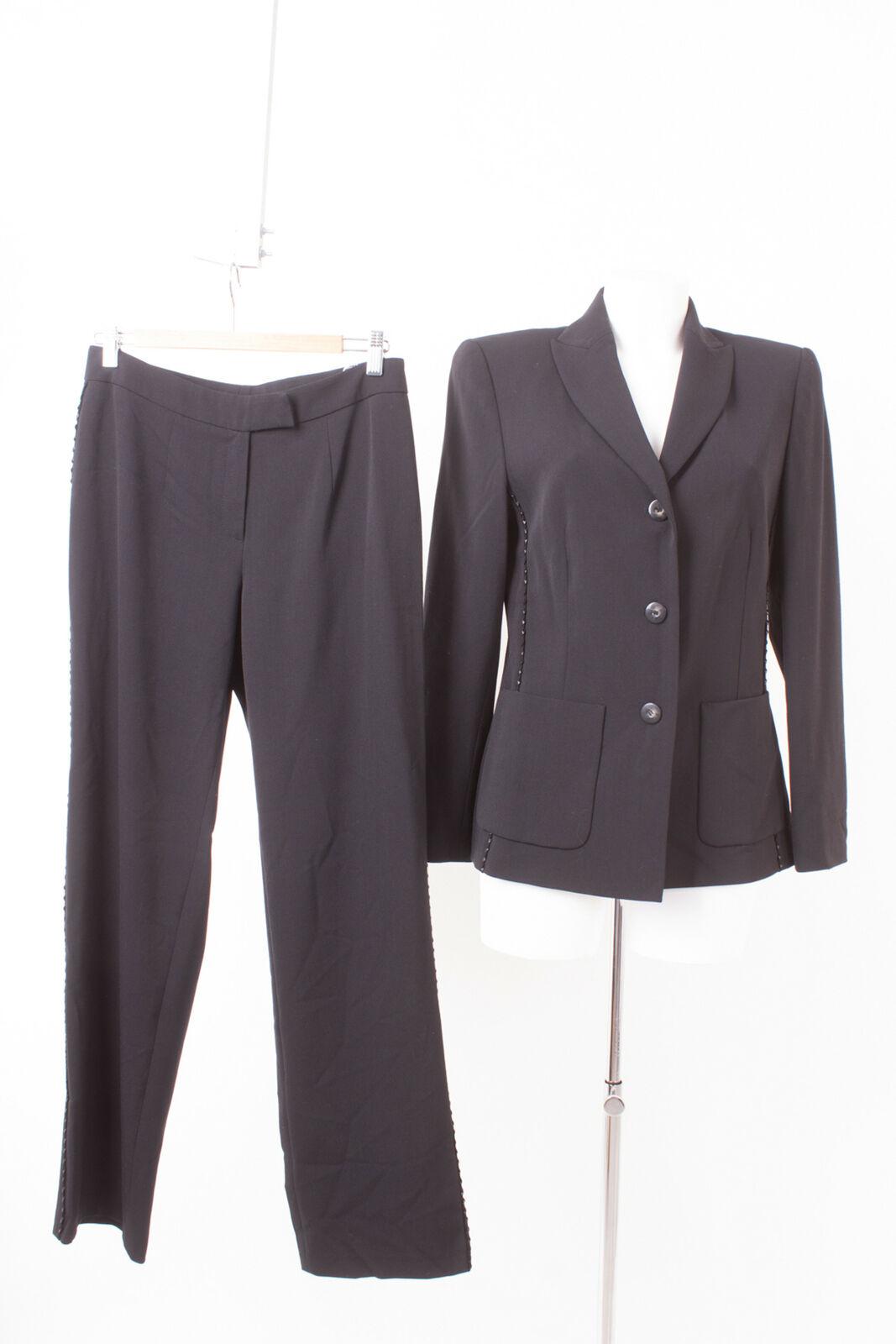 Tuzzi Ladies Trouser Suit Size DE 38 Pants Blazer Black
