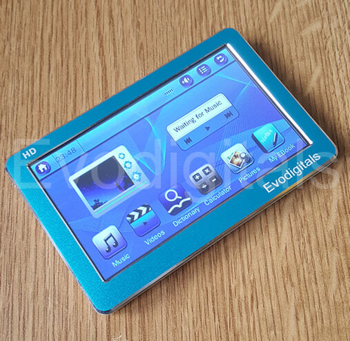 """NEW BLUE 16GB 4.3"""" TOUCH SCREEN MP5 MP4 MP3 PLAYER DIRECT PLAY VIDEO + TV OUT"""