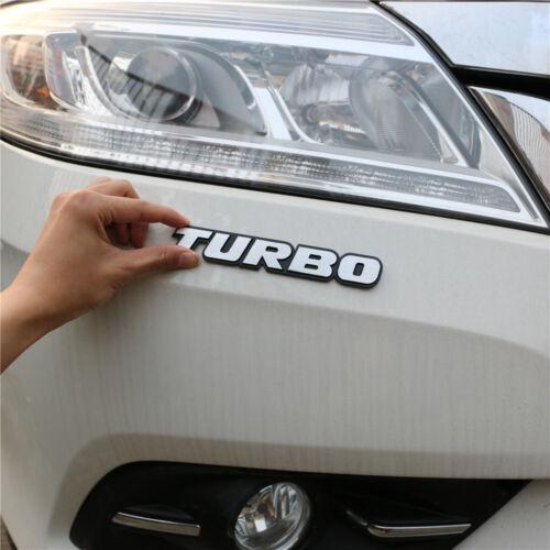 1PC Silver TURBO Metal Sticker Badge Racing Sports Decal Emblem Fender 3D Engine