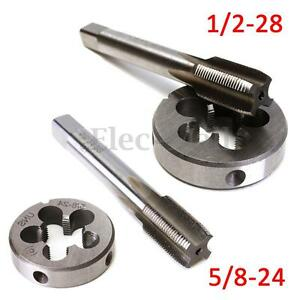 5-8-24-Or-1-2-28-UNEF-Hand-Tap-amp-Round-Die-HSS-Right-Hand-Tapping-Cutting-Tool
