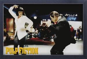 PULP-FICTION-DANCE-13x19-FRAMED-GELCOAT-POSTER-UMA-THURMAN-JOHN-TRAVOLTA-JACKSON
