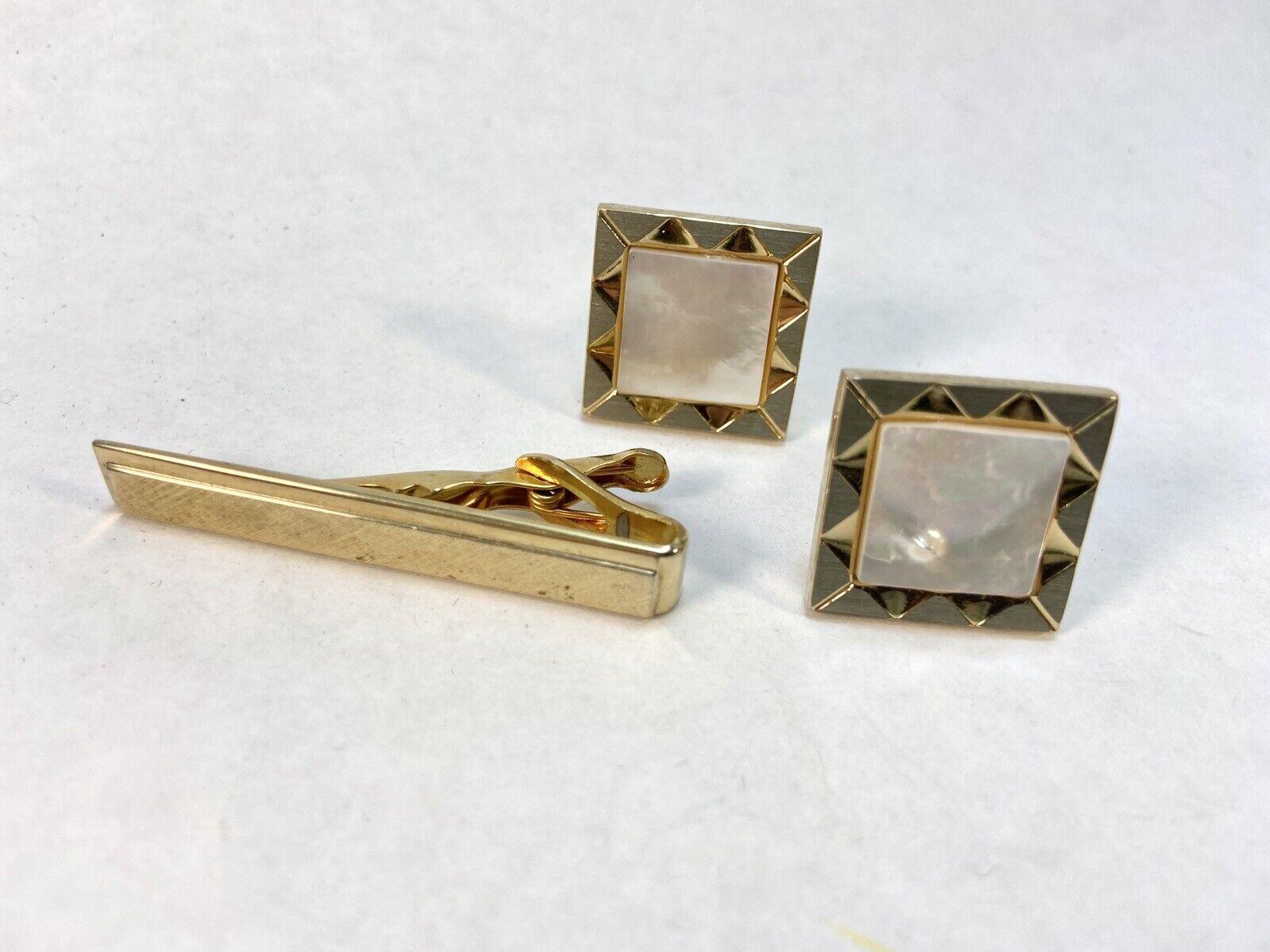 Vintage Square Gold Tone SWANK Cufflinks