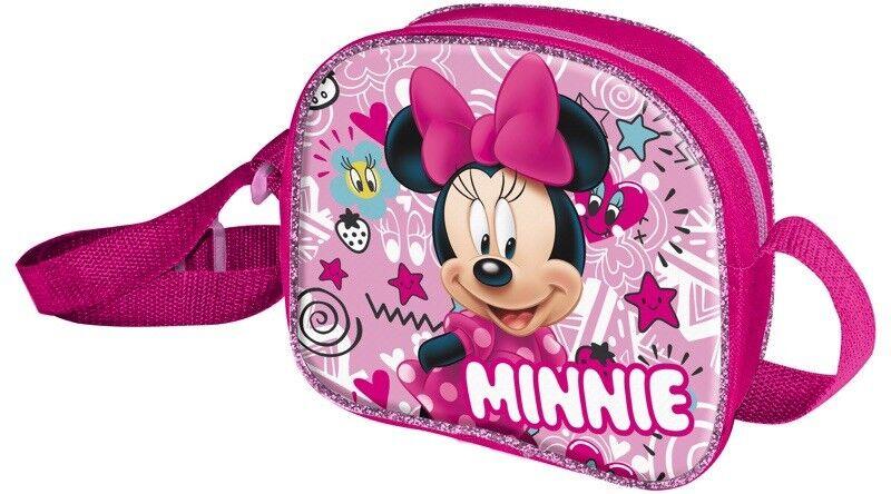 4384f5e28f8 Disney Minnie Mouse Backpack  (Pink  Black ) DMINN001084 Cartoons ...