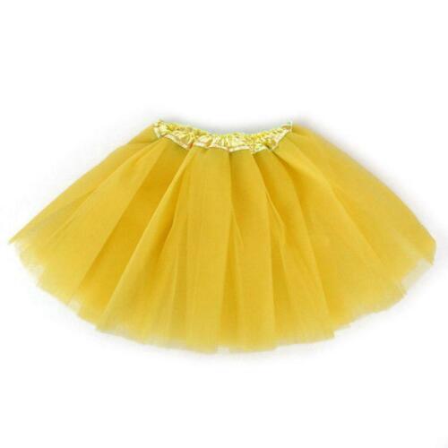 Kids Girls Three Layers Mesh Ruched Tutu Skirt A-Line Skirt Dancewear EHE8