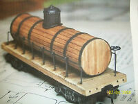 Ho Wood Water Tank Car Kit Logging In Box