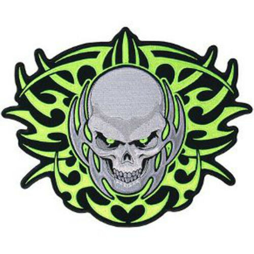 "5/"" X 4/"" TRIBAL SKULL 5/"" PATCH 13 X 10CM"
