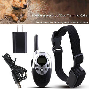 1000m Remote Control Electronic Training Dog Device Waterproof Shock Dog Collar