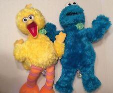 "2006 Build a Bear Sesame Street Big Bird Plush and 2005 Cookie Monster 22"""