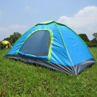 Tienda de campaña con dos puertas para dos personas acampada camping 200x140x110