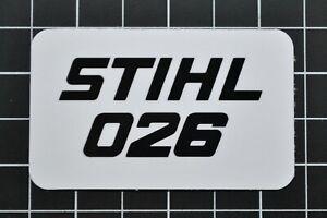"""Vinyl Sticker for Stihl//Farmertec 026 Shroud Plate /""""Full Overlay/"""""""
