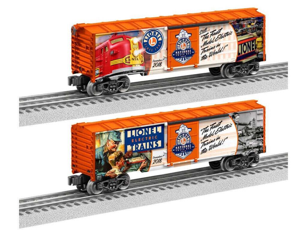 Tren Lionel 2018 día furgón o calibre edición limitada cantidad Caja 6-1838010 Nuevo