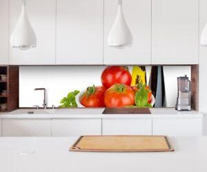 Aufkleber Küchenrückwand Küche Tomate Salat Folie Möbelfolie ...