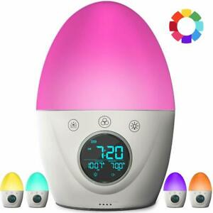 Vibration Speaker for the Peaceful Progression Wake Up Alarm Clock White
