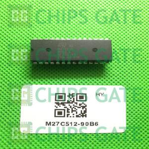 2PCS-M27C512-90B6-Encapsulation-DIP-28
