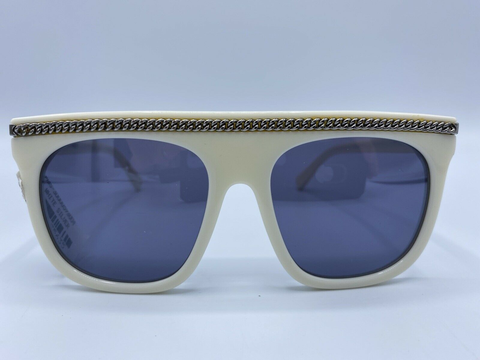 STELLA McCARTNEY SC0043S White Silver Chain Sunglasses MSRP Made In Italy