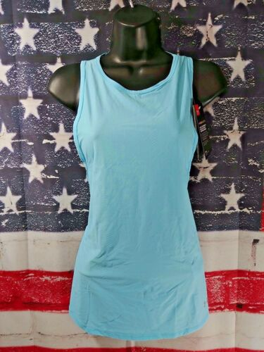 Sz S Small Under Armour Women/'s UA Cool switch Logo solid Fitted Tank UPF 30