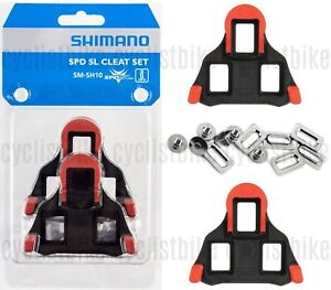 5831e5132 Genuine Shimano SM-SH10 SPD-SL Road Cleat Set Cleats fixed 0° Red w ...
