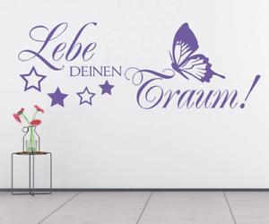X3369-Wandtattoo-Spruch-Lebe-deinen-Traum-Sticker-Wandaufkleber-Aufkleber