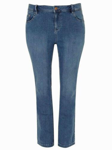 Evans Donne Denim Jeans Blu Taglie Pera Fit Gamba Dritta Pantaloni Taglia 16-28