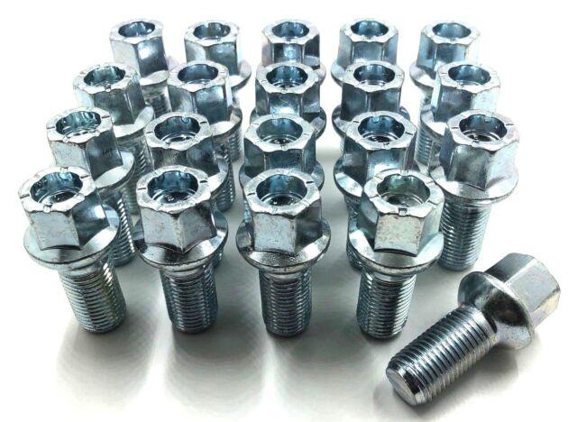 14x1.5 Nuts for VW Passat CC 08-12 16+4 Black Wheel Bolts /& Locks