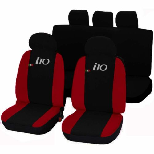 RED UNTIL THE 2012 CAR SEAT COVERS HYUNDAI i10 TWO-COLOURED BLACK