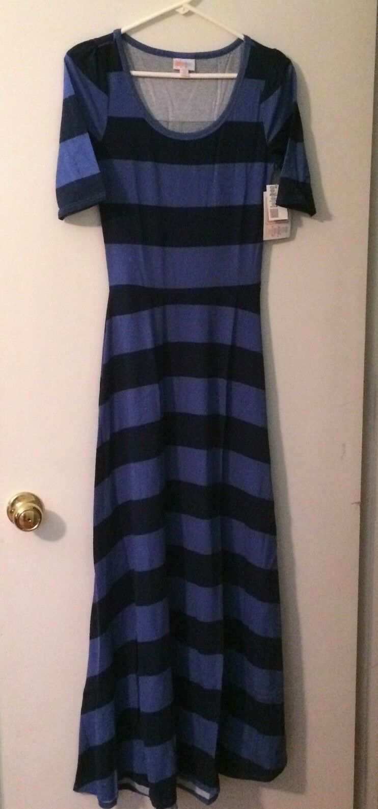 LuLaRoe Ana  XS Stripes - BRAND NEW - Maxi Length - Navy And Denim bluee