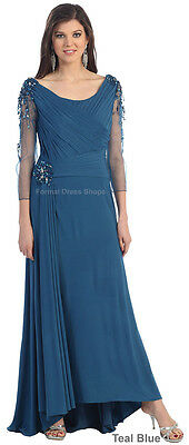 DEMURE EVENING GOWN SPECIAL OCCASION RED CARPET GALA DRESS DESIGNER FORMAL PROM