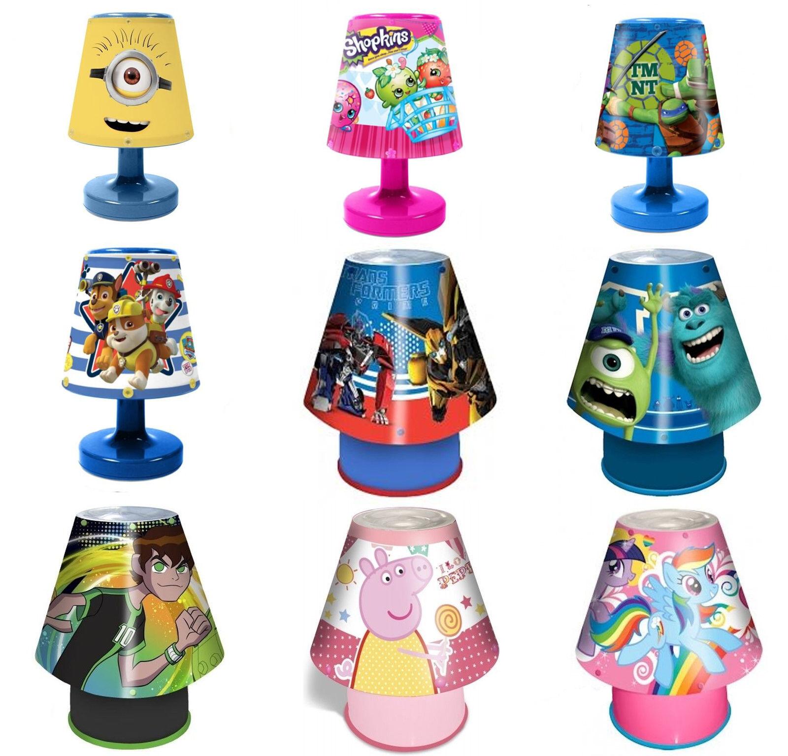 Disney & Kids TV Character Kool Lamp Kids Bedroom Bedside