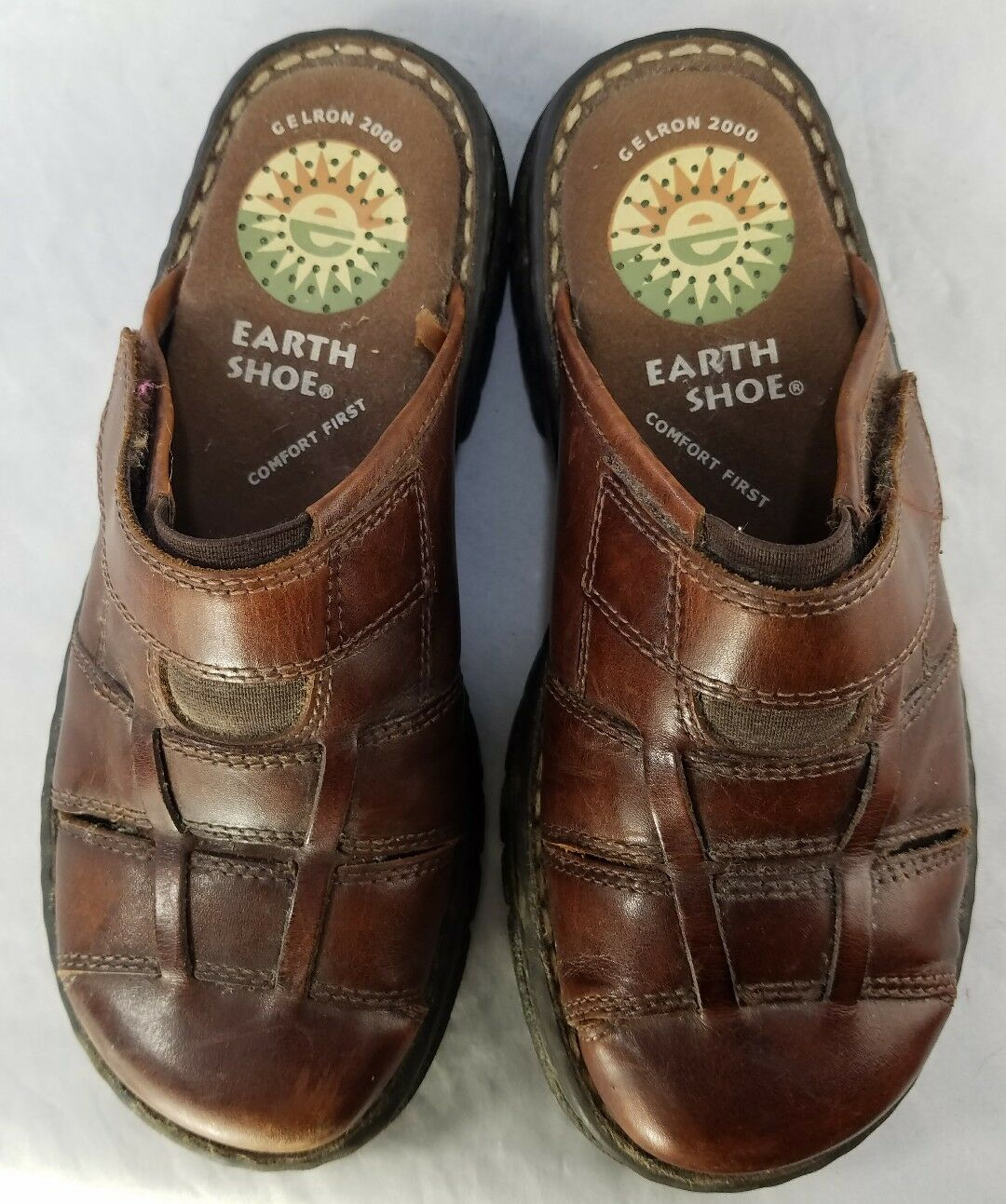 Earth Shoe Gelron 2000 Closed Toe 6 Slip On Sandals Size 6 Toe Women's 043847