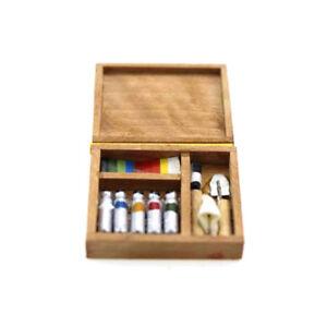 JT-Miniature-Artist-Paint-Pen-Wood-Box-Model-Toys-Dollhouse-Accessories-Wide