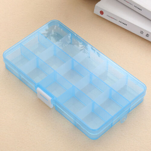 Clear Plastic Jewelry Holder Box For Beads Ear Stud Storage Organizer Useful Acc