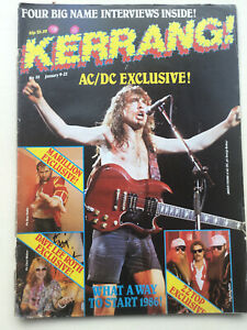 KERRANG No 111 - AC/DC,Dave Lee Roth,ZZ Top,Fish.Heavy Metal.Hard Rock.Magazine.